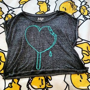 Tokyo Darling Graphic Heart Pop Crop Top